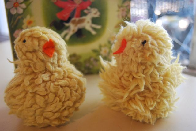 Handmade toys archives artisan education pom pom chicksyou cant have a mama hen without some babies from the book creative play for your baby they were pretty easyi ended up felting them to negle Images